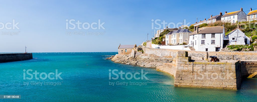 Porthleven Harbour Cornwall England stock photo