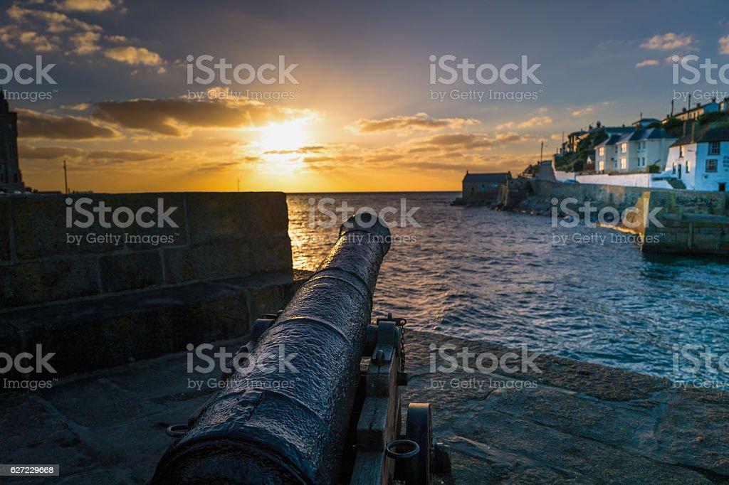 Porthleven Harbour. stock photo