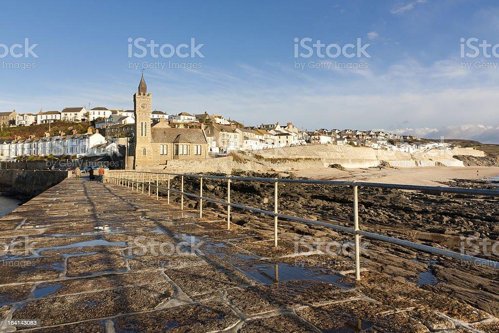 Porthleven Pier photo libre de droits