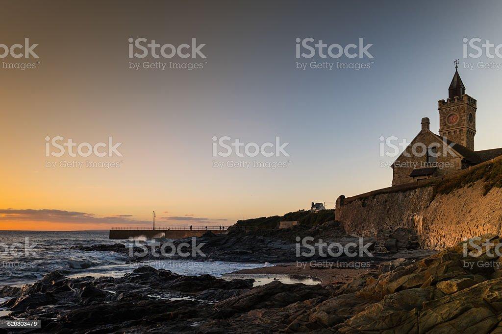 Porthleven Sunset. stock photo