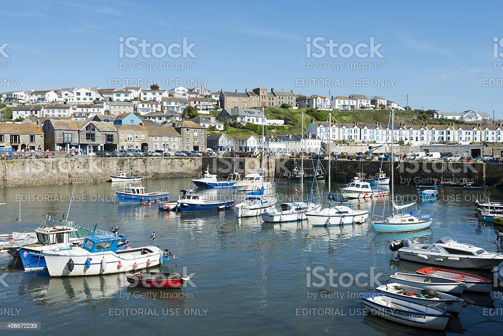 Porthleven Village in Cornwall UK stock photo