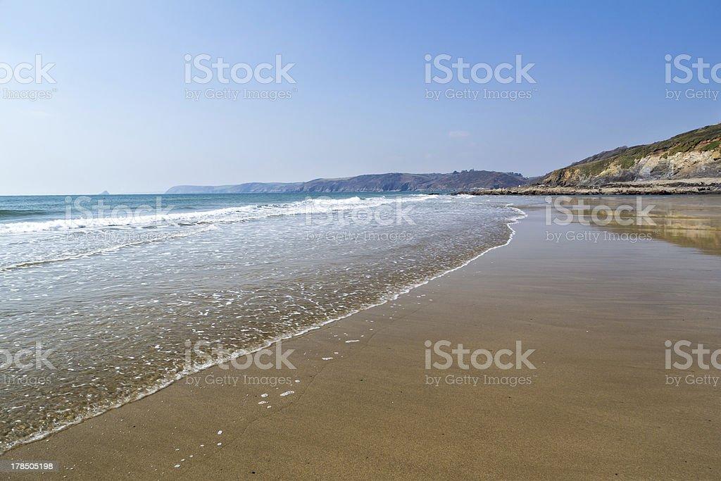 Porthluney Beach photo libre de droits
