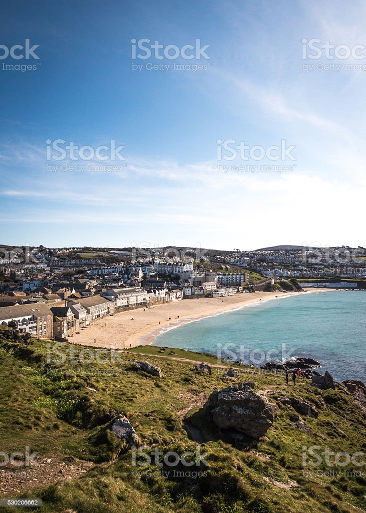 Porthmeor beach, St. Ives, Cornwall, England stock photo