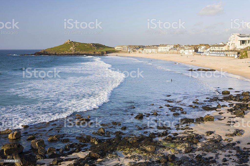 Porthmeor plage de St Ives Cornwall photo libre de droits
