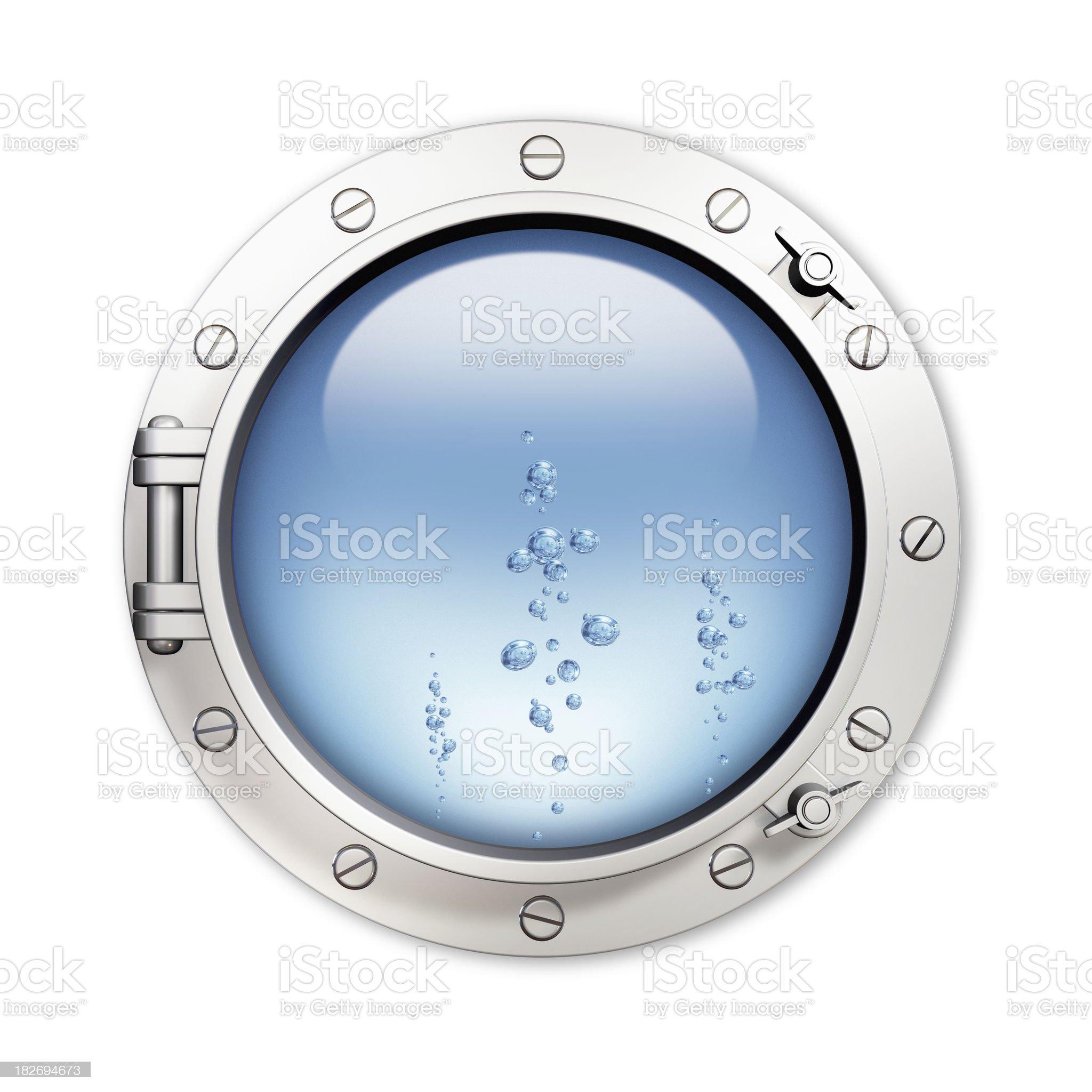 Porthole and bubble royalty-free stock photo