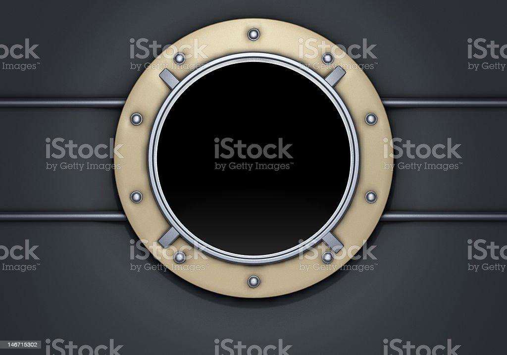 porthole gold royalty-free stock photo