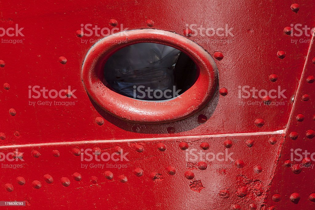 Porthole in the bow royalty-free stock photo