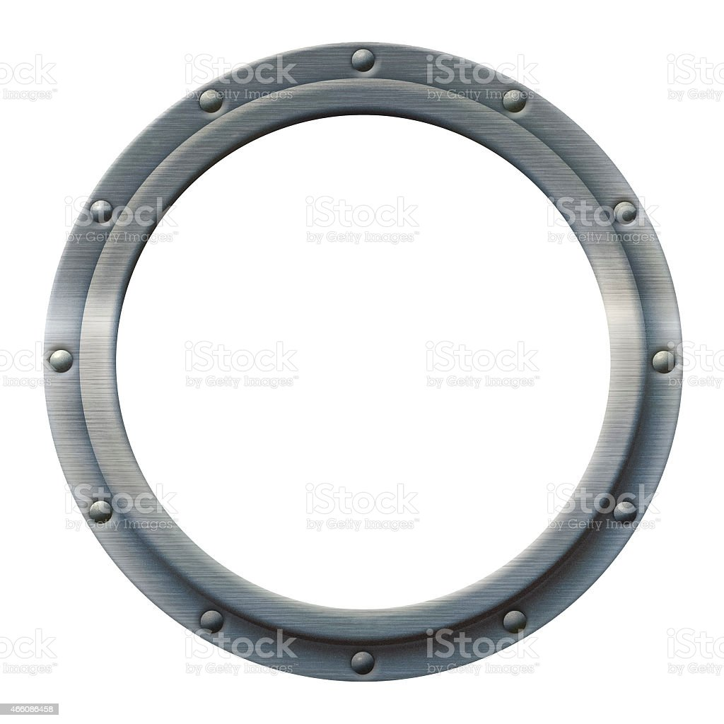 Porthole Iron stock photo