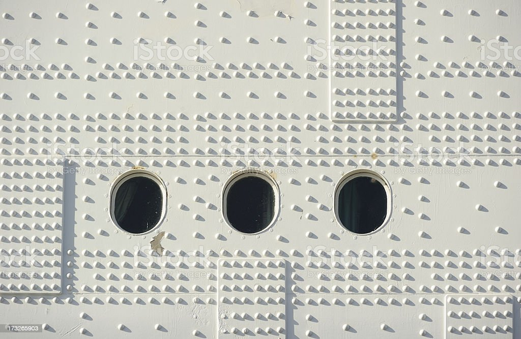 Portholes and Rivets royalty-free stock photo