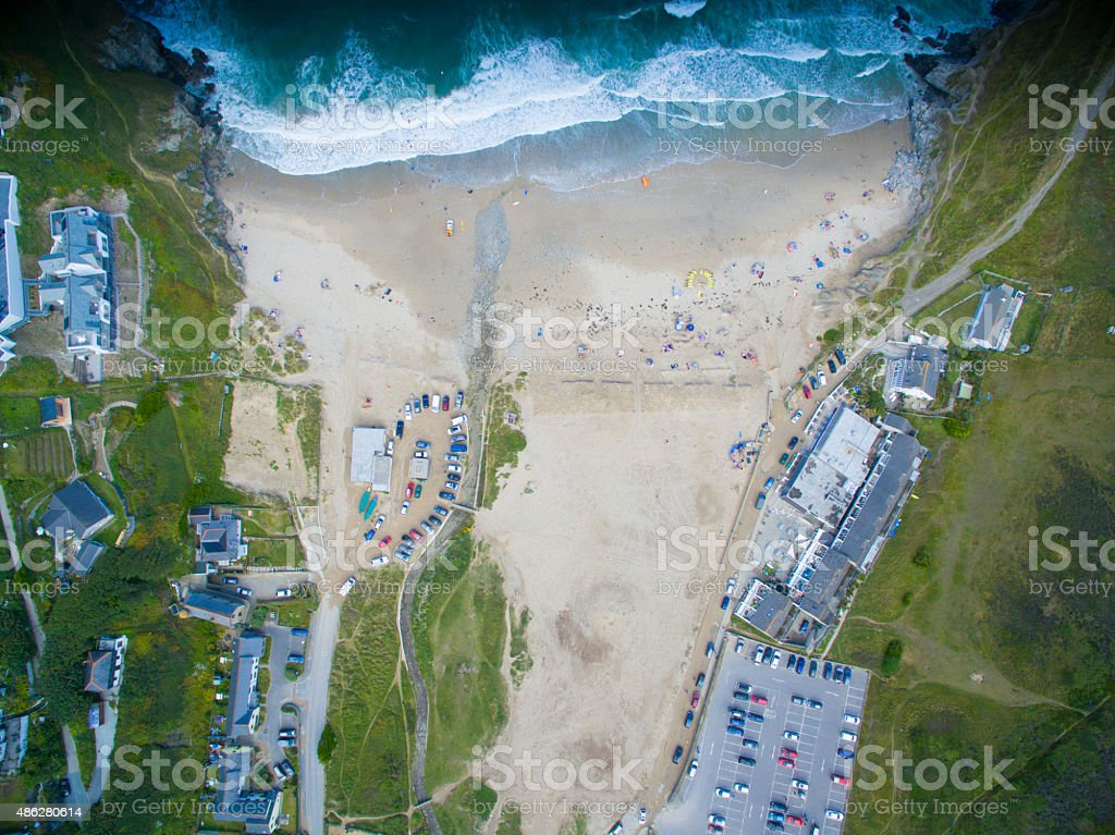 POrthtowan Aerial Beach Shot royalty-free stock photo