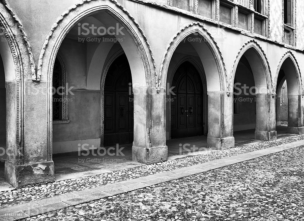 Portico. Black and White royalty-free stock photo