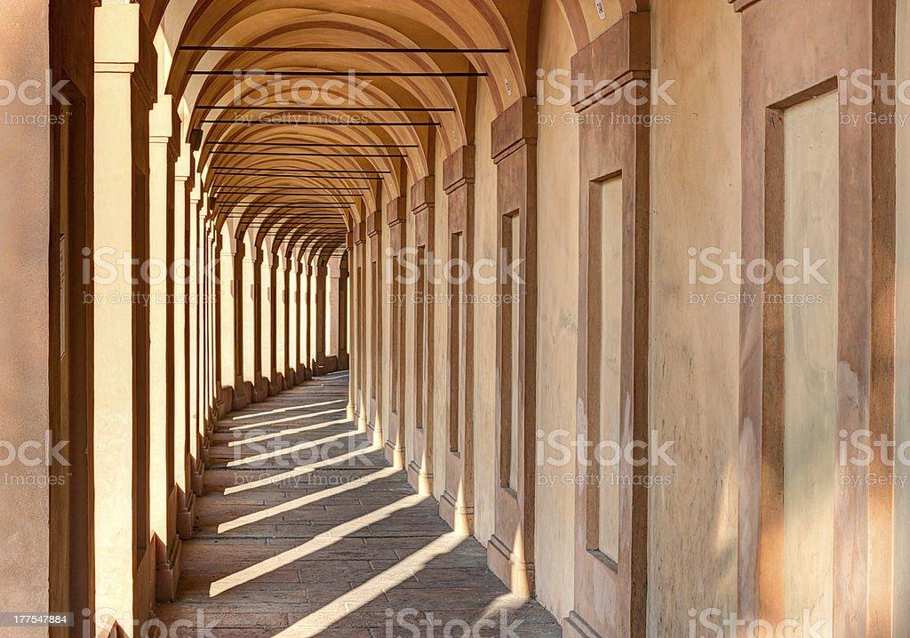 Portico di San Luca, Bologna stock photo