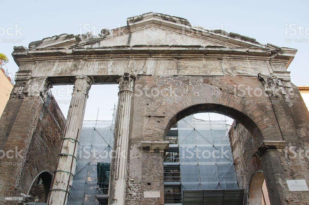 Portico of Ottavia stock photo