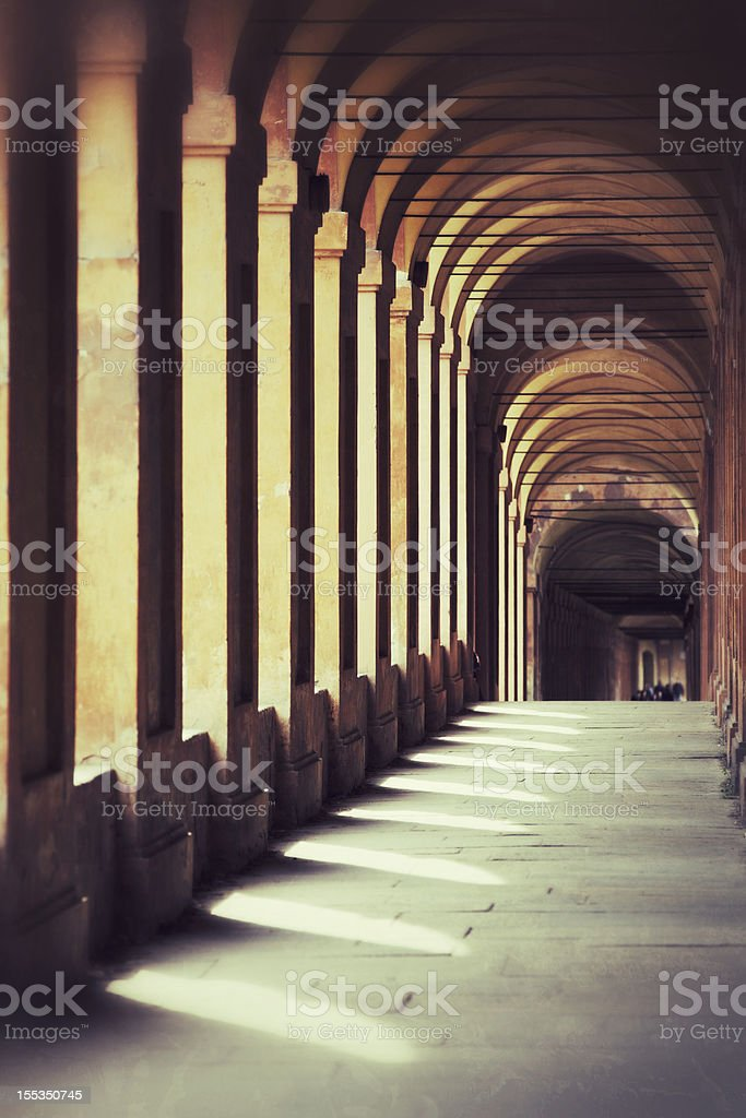 Portico di San Luca in Bologna royalty-free stock photo