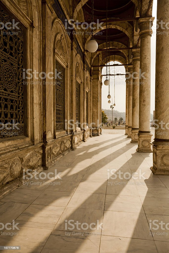 portico of the mosque stock photo