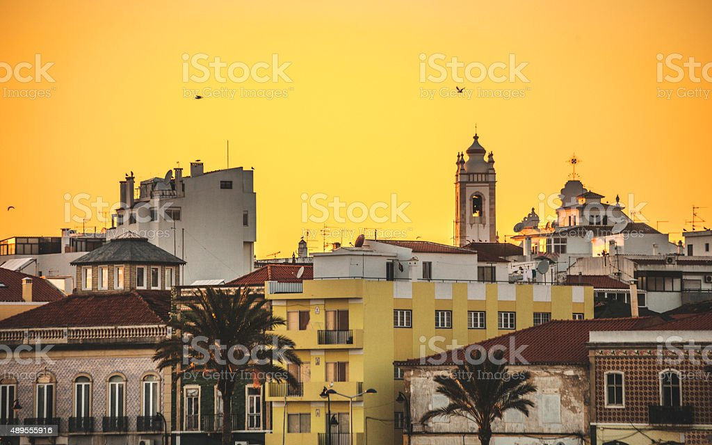 Portimao sunset. stock photo