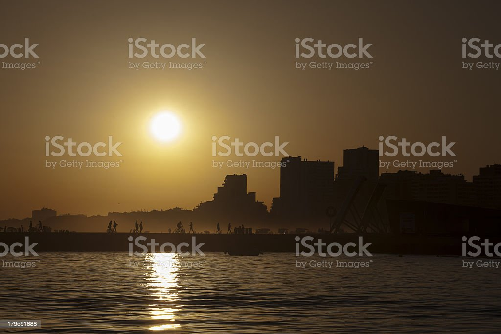Portimão by sunset - Arade view royalty-free stock photo