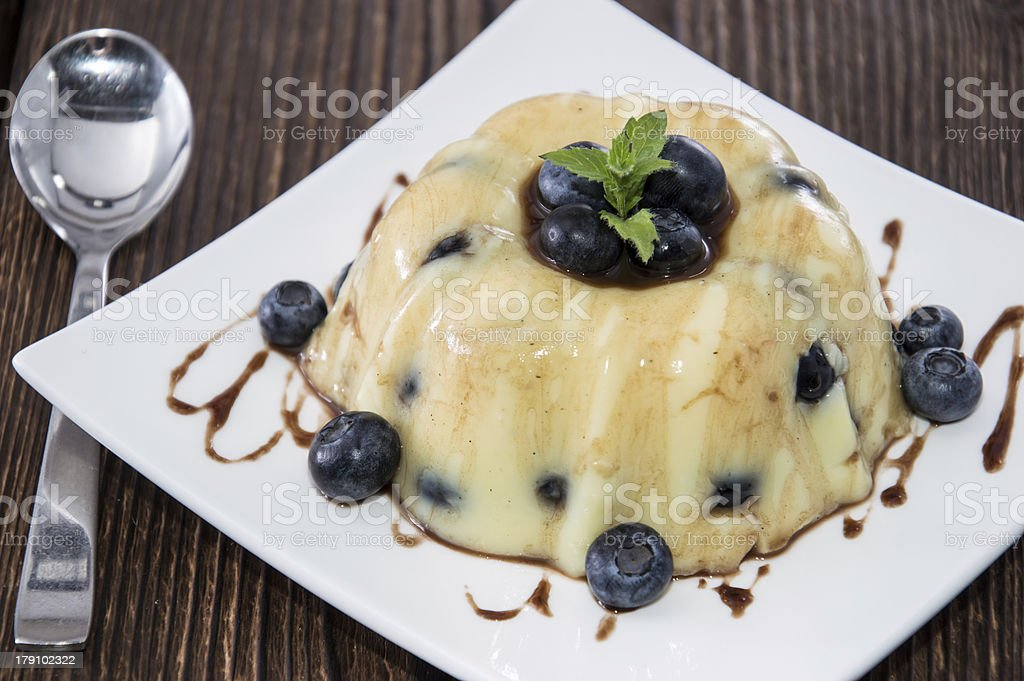 Portion of Blueberry Pudding royalty-free stock photo