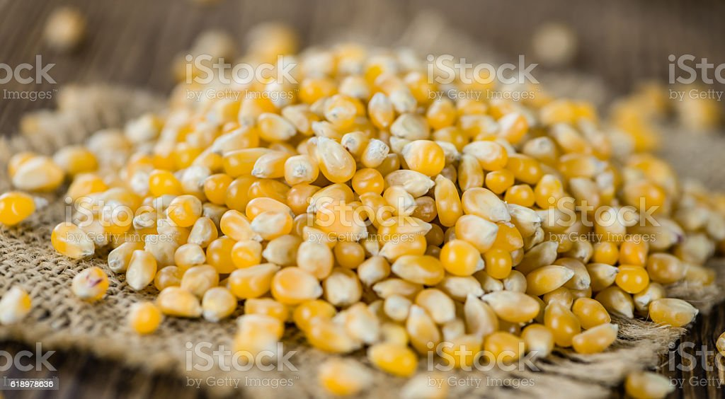 Portion of Corn stock photo