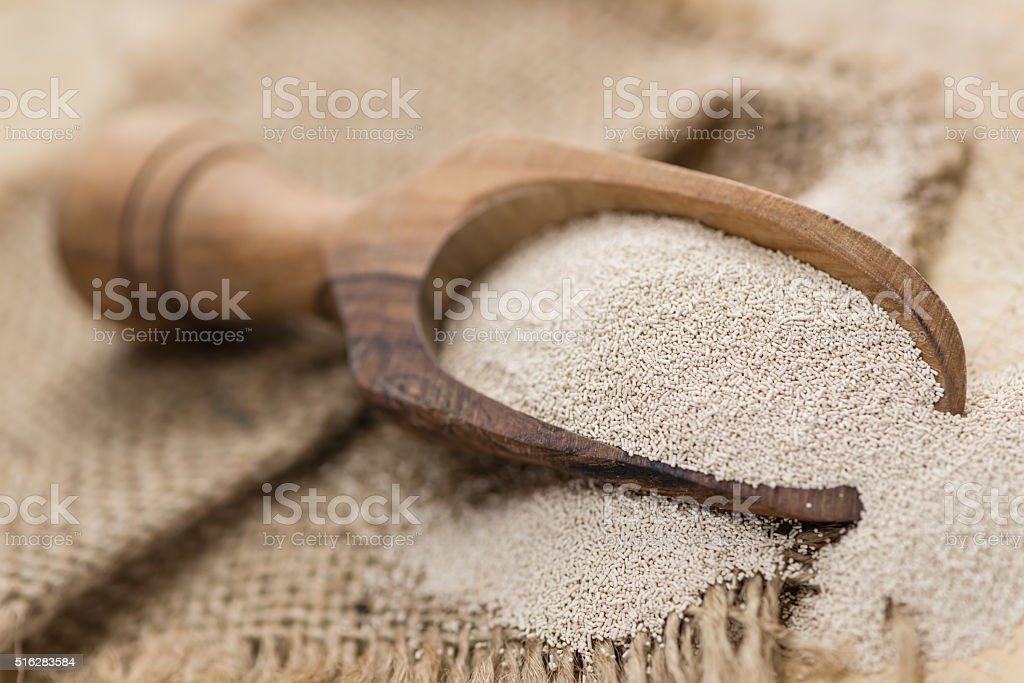 Portion of dried Yeast stock photo