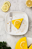 Portion of lemon pie