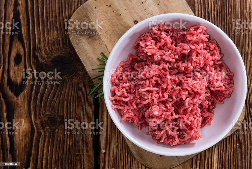 Portion of Minced Meat stock photo