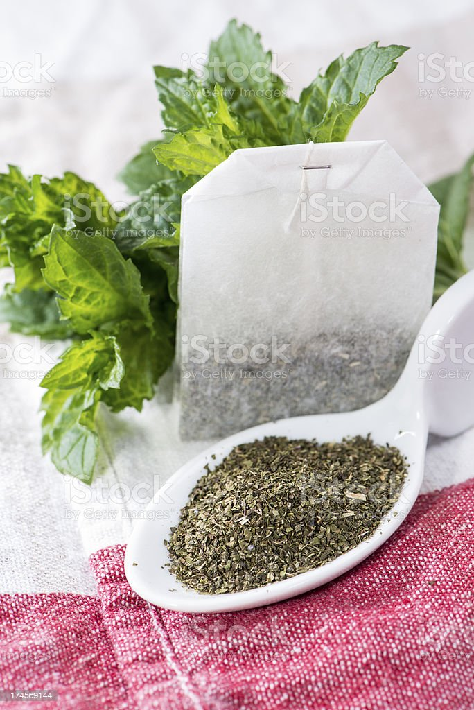 Portion of Mint Tea royalty-free stock photo