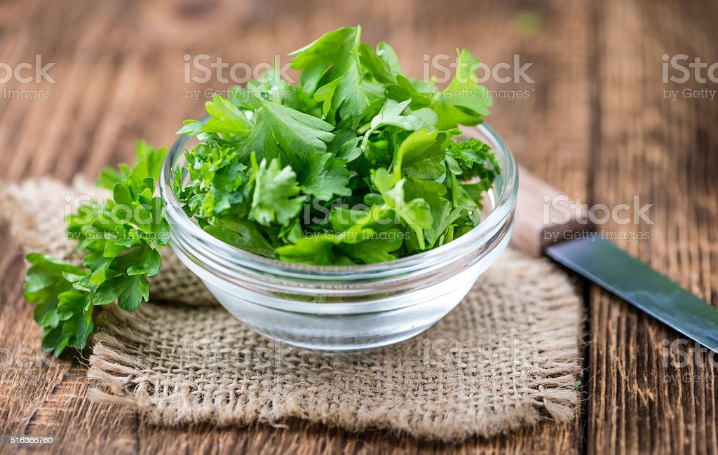 Portion of Parsley stock photo