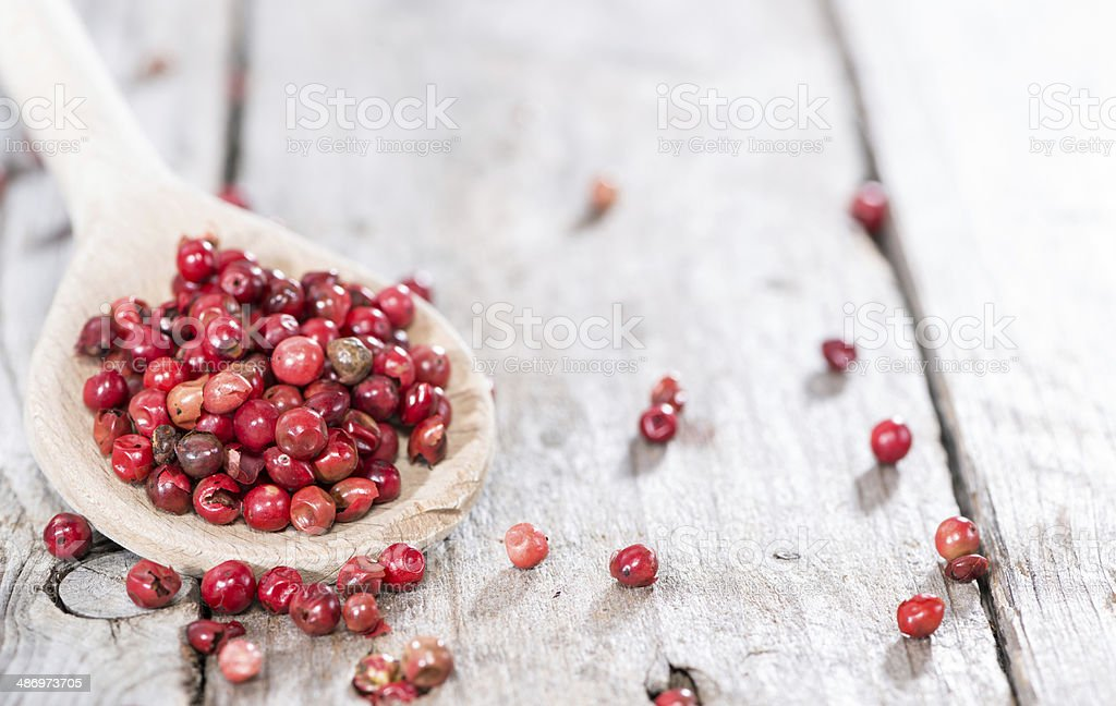 Portion of Pink Peppercorns royalty-free stock photo