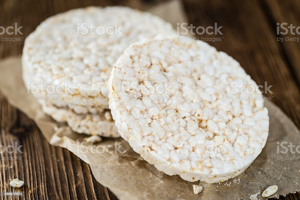 Portion of Rice Cakes stock photo