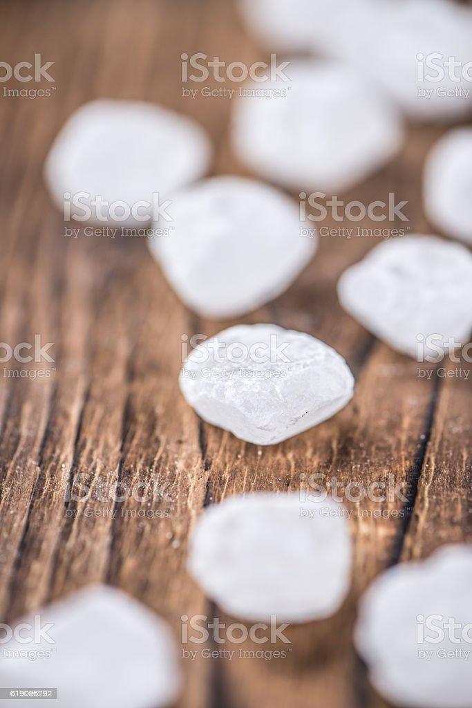 Portion of Rock Sugar stock photo