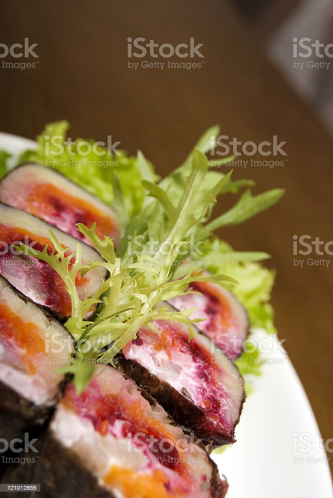 Portion of rolls royalty-free stock photo