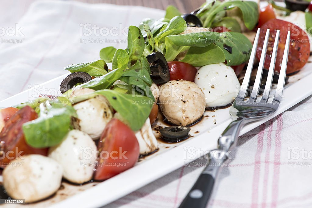Portion of Salad with Balsamic Vinegar royalty-free stock photo