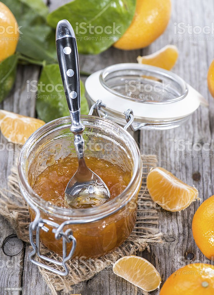 Portion of Tangerine Jam royalty-free stock photo