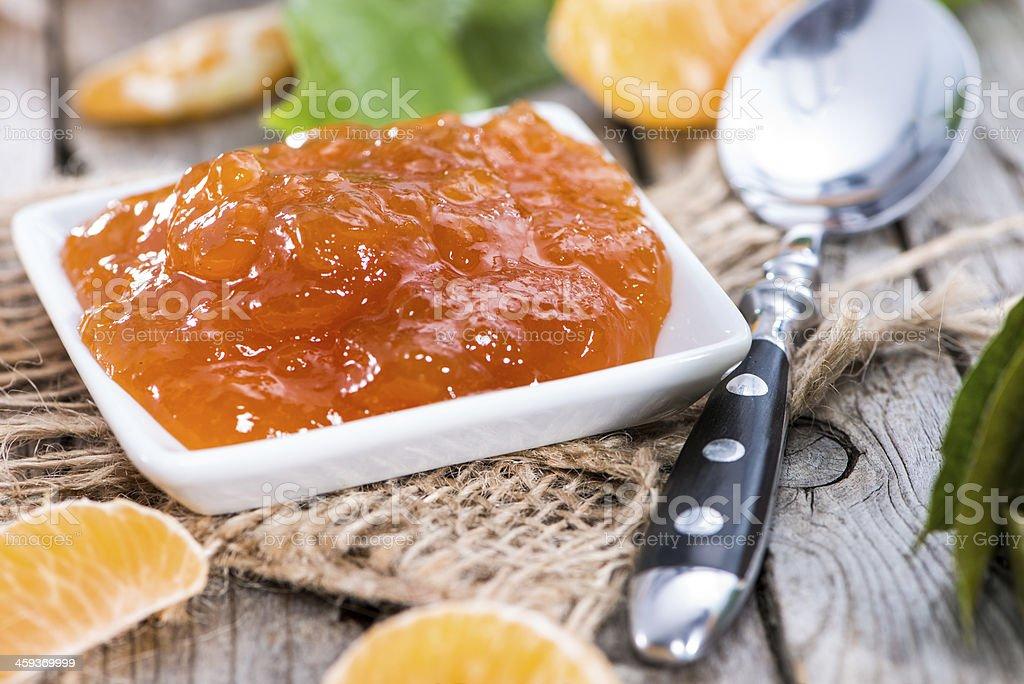 Portion of Tangerine Jam royalty-free stock photo