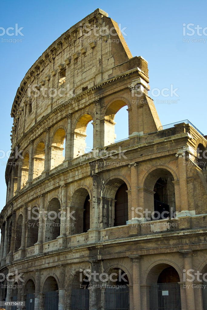 Portion of the Colosseum in Rome, Italy royalty-free stock photo