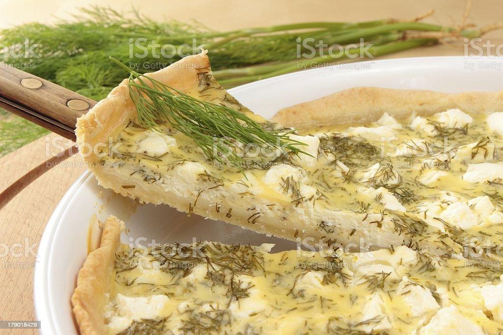 portion of vegetarian tart royalty-free stock photo