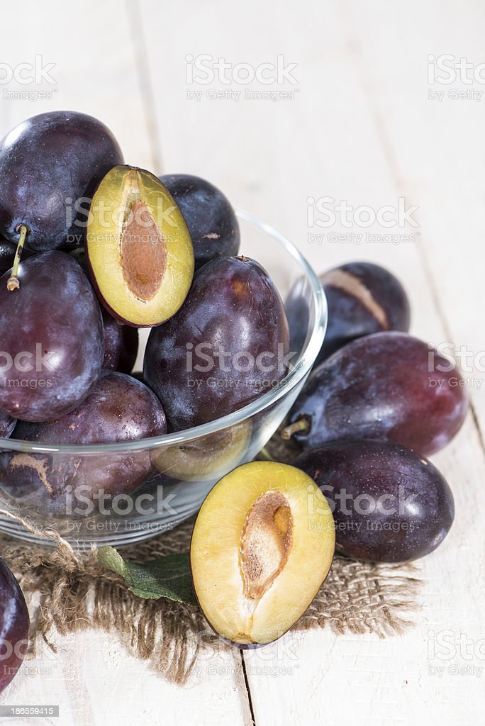 Portion on Plums royalty-free stock photo