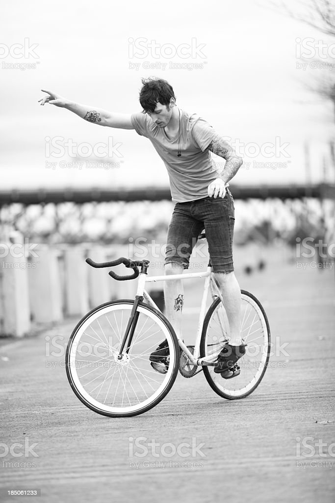 Portland Bike Rider royalty-free stock photo