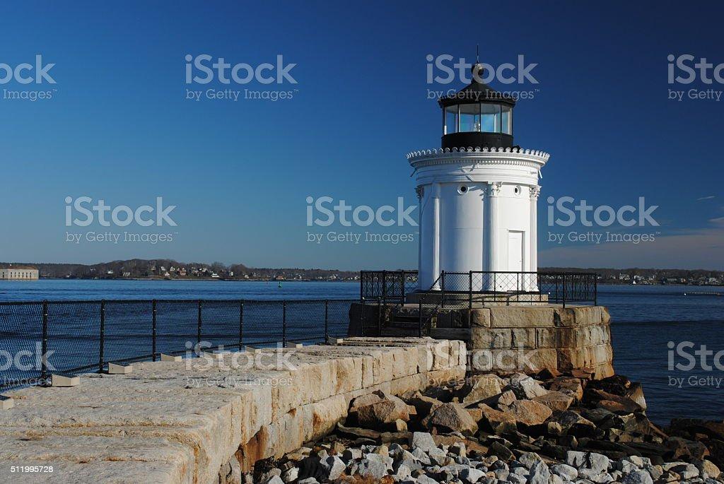 Portland Breakwater Lighthouse stock photo