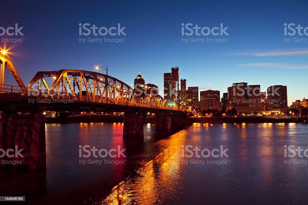 Portland downtown royalty-free stock photo