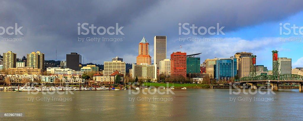 Portland Downtown Skyline stock photo
