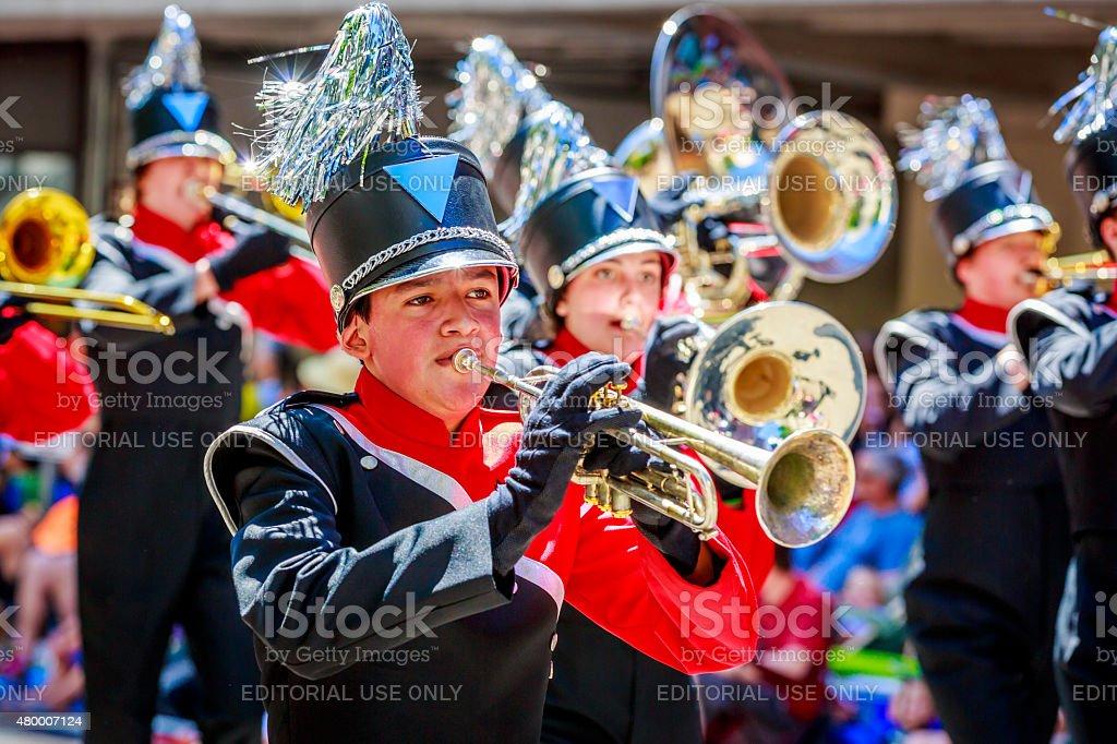 Portland Grand Floral Parade 2015 stock photo