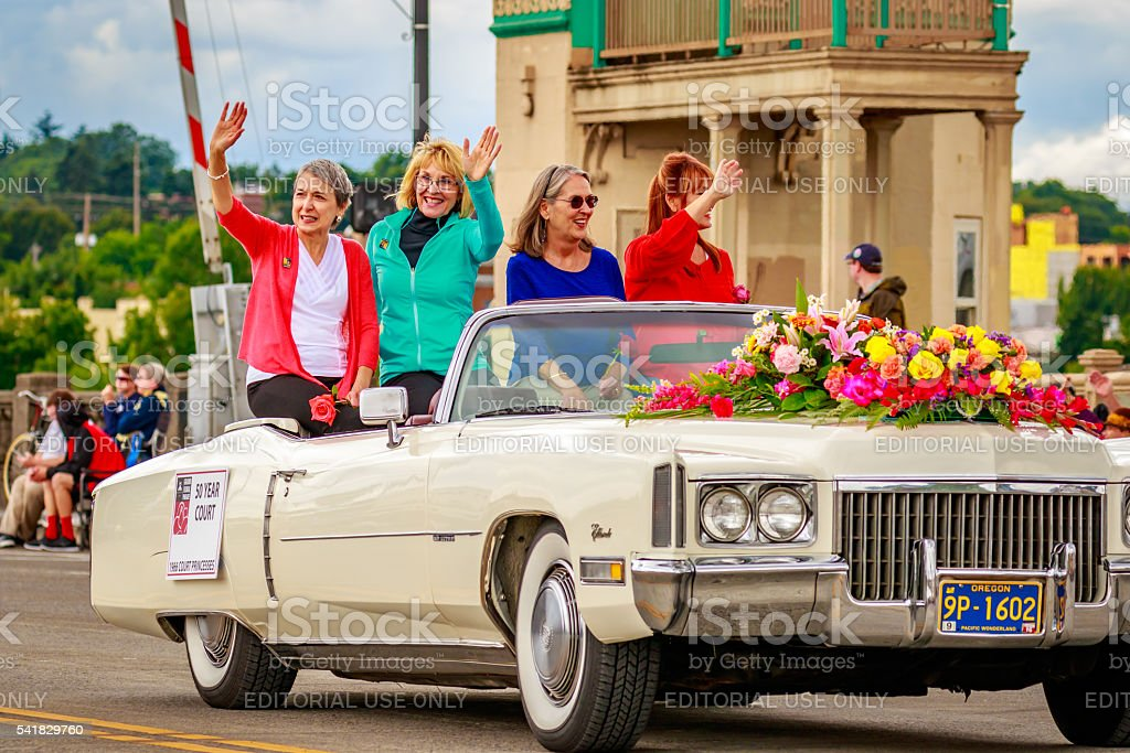 Portland Grand Floral Parade 2016 stock photo