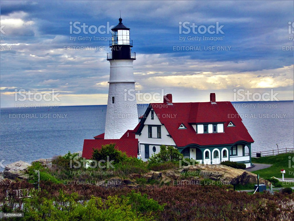 Portland Head Light, Cape Elizabeth, Maine. stock photo