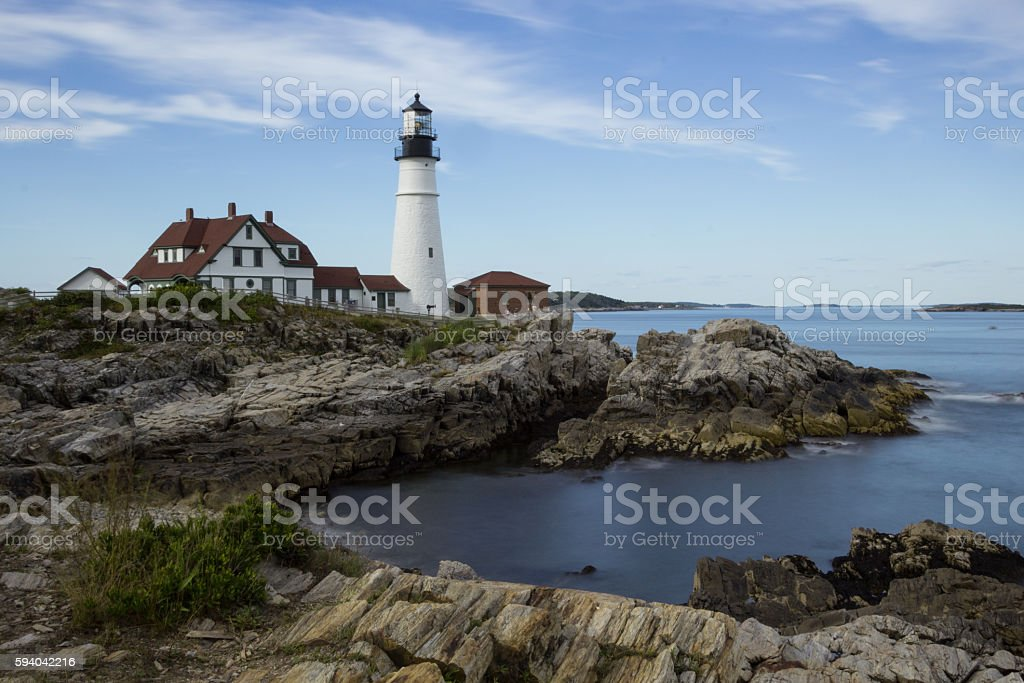 Portland Head Light, Cape Elizabeth, Maine stock photo