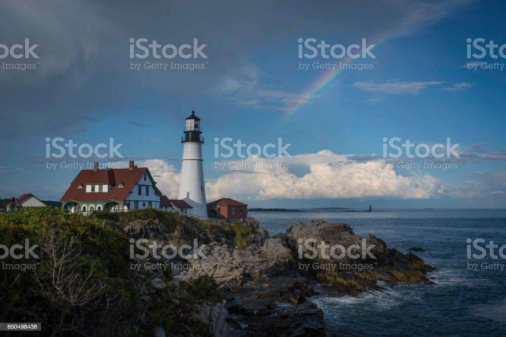 Portland Head Light in Maine stock photo