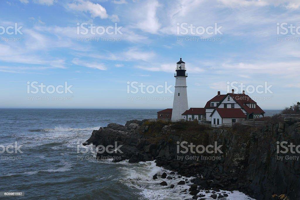Portland Head Light, Maine USA stock photo