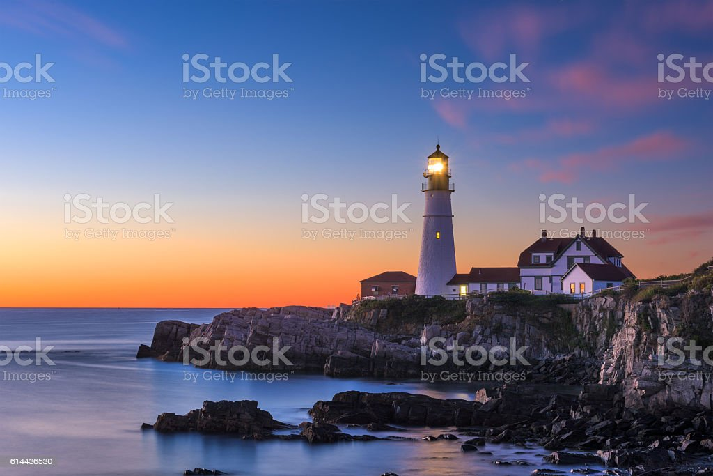 Portland Head Light stock photo