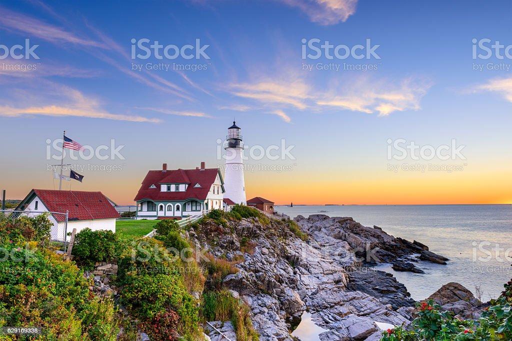 Portland Head Light stock photo
